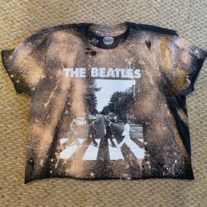 Brand New Beatles Cropped Tee - Size L
